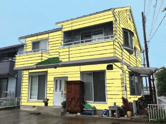 外壁クリーム色カラーシミュレーション