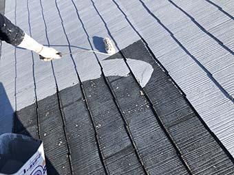 前橋市敷島町 屋根塗装 下塗り