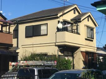 高崎市貝沢町屋根の塗装前外観