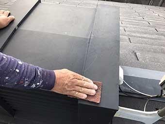 前橋市 屋根棟鉄板ケレン