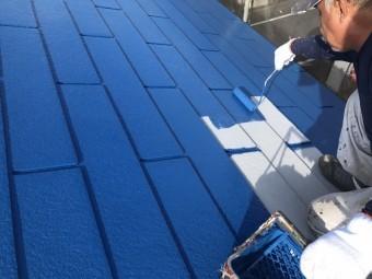 前橋市 屋根中塗り