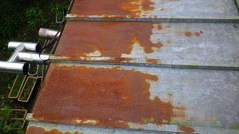 渋川市赤城町サンブキトタン屋根のサビアップ