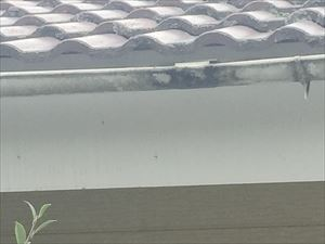 伊勢崎市市場町F様雨どいの状態