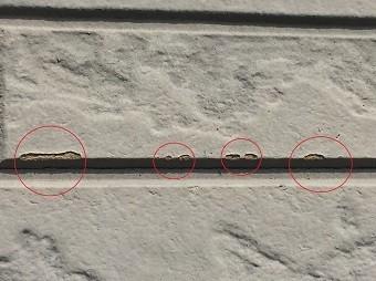 前橋市日吉町外壁の破損部分