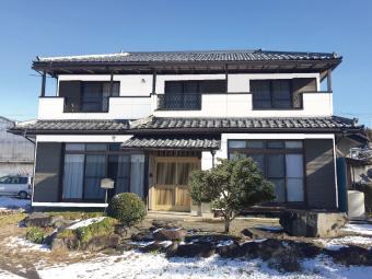 渋川市北橘町T様邸のカラーシミュレーション用の透明シート