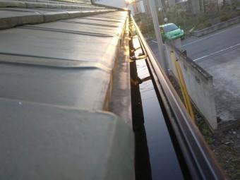 伊勢崎市A様邸樋の水たまり確認