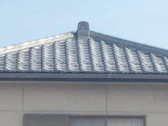 北側から写した屋根の写真