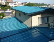 ガルバリウム鋼板屋根材の写真