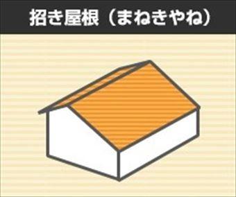 屋根形状 招き屋根