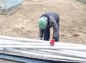 古い雨樋はまとめて整理する